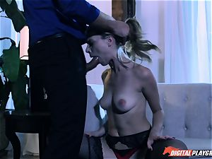 Anya Olsen punished with firm hard-on in her tight stunner pot after spanking