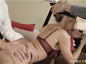 The spouse of Brandi enjoy lets her penetrate a different stud