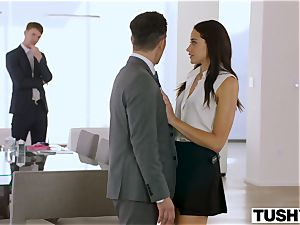 TUSHY secretary Gets DP'd By chief And friend