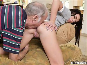 aged granddad spunk shot female internal cumshot railing the old meatpipe!