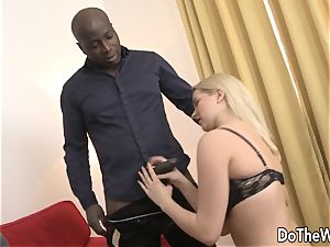 steamy blondie wife takes bbc in her backside