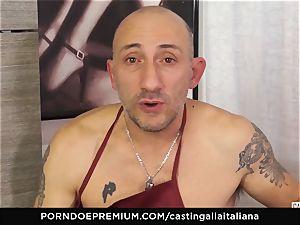 audition ALLA ITALIANA - Italian milf newcummer luvs anal