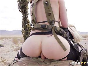 iron Gear Solid five anal porno parody with wild brunette Casey Calvert