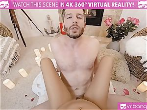 VR porn - Thanksgiving Dinner becomes naughty fucking
