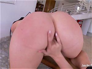 huge-boobed pornographic star Jayden boinks her super-hot towheaded girlfriend