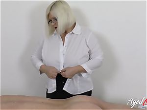 AgedLovE Lacey Starr boning firm with Soldier