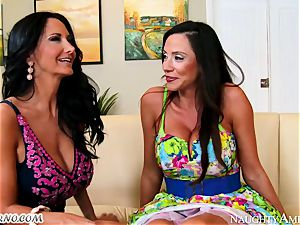 gang porn 3 way with huge-titted moms