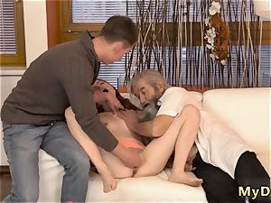 Hindi senior orgy and very first time xxx unexpected practice with an senior gent