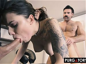 PURGATORY I let my wifey pummel 2 guys in front of me