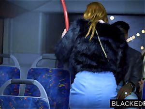 BLACKEDRAW two bombshells nail yam-sized bbc On Bus!