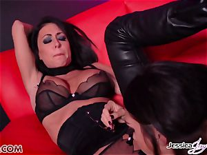 Jessica Jaymes fucked by Alison Tyler using a strap on dildo