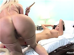 freaky Nurse Nikita Von James attempts to heal Alison Tyler