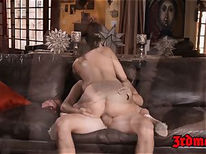tempting Ashley Adams oralled and riding stepbro cock