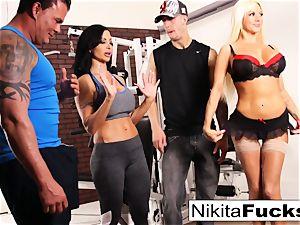 Nikita Von James joins a exercise intercourse