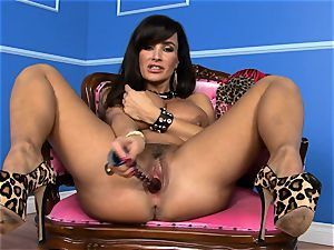 mind-blowing Lisa Ann slams her faux-cock deep in her humid slit