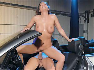 Abigail Mac salivating on a hefty jizz-shotgun