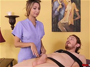nubile massagist feels ugly To see His jizm