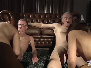 nubile daughter exchange boinking Stepdads in sugary-sweet group lovemaking