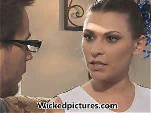 super-hot dark haired cheerleader Victoria Lawson gets her boy