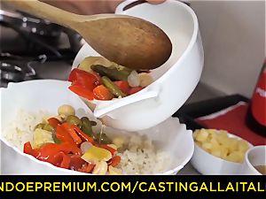casting ALLA ITALIANA - hot Italian minx gets deep rectal