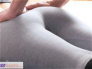 FitnessRooms muddy yoga educator super-sexy fitness model