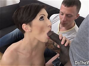 crazy wifey enjoys thick black spear in her ass