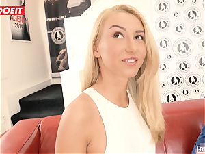 Katrin Tequila nailed hard-core on her very first casting