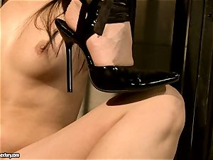 Kathia Nobili makes a super-steamy babe suck a fake penis