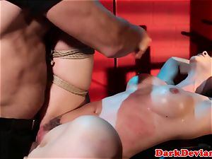 caned Chanel Preston pummeled while tiedup