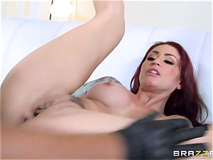 sandy-haired wife Monique Alexander gets plumbed in front of her husband
