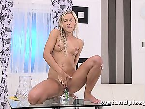 Darling Dido Angel in the shower letting her fluid explosion