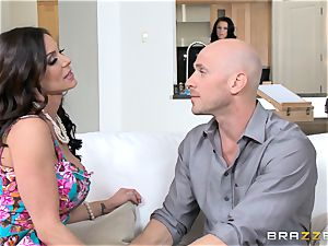 Kendra eagerness and Peta Jensen share their dude