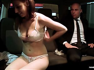 smashed IN TRAFFIC - warm car fuck with wonderful Czech honey