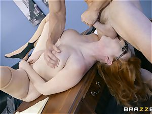 beef whistle greedy Lauren Phillips romped in her ginger puss