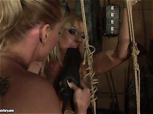 Kathia Nobili enjoy smashing the torrid damsel with fake penis