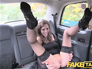 faux cab Posh gals engorged beaver and donk nailed