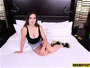 lovely gigantic bumpers unexperienced wifey plumbed pov