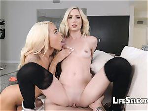 puny Blondes get smashed rock-hard - Piper Perri, Elsa Jean
