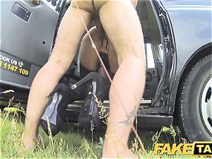 faux taxi Fetish princess in black leather anal invasion internal cumshot