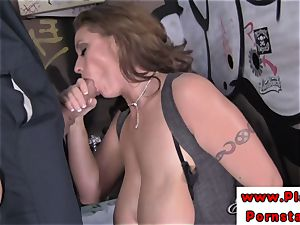 Eva Notty tit and vulva romped after deep-throating on dick