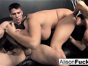3-way gonzo energetic fuck-fest with Alison