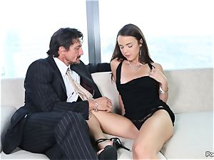 chatty Dillion Harper shafted by a suited fellow