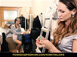 kinky INLAWS - Gina Gerson fucked by cougar with magic wand